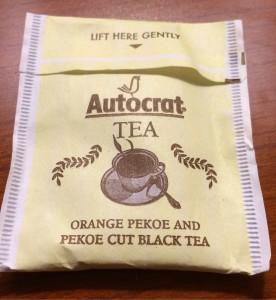 Autocrat tea bag