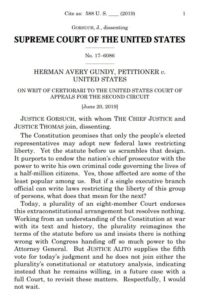 Gorsuch dissent in Gundy v. U.S.