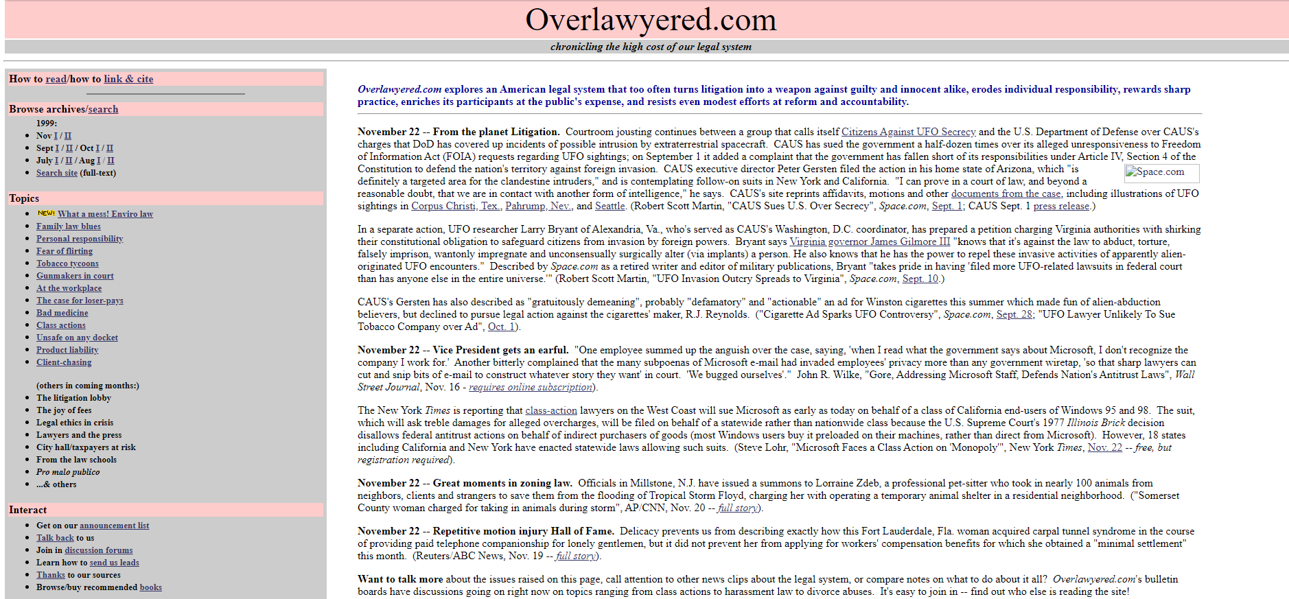 Overlawyered archive image
